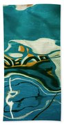 Abstract Boat Reflection V Color Beach Towel