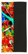 abstract composition K12 Beach Towel