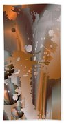 Abstract Copper Beach Towel by Robert G Kernodle