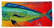 Abstract Mahi Mahi Beach Towel