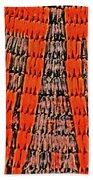 Abstract Oranges Blacks Browns Yellows Rows Columns Angles 3152019 5476 Beach Towel