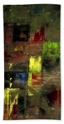 Abstract Patchwork Beach Towel