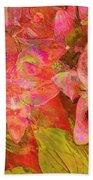 Abstract Pink Lilies Beach Towel