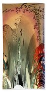 Abstract Utagawa Kunisada Beach Towel by Robert G Kernodle