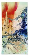 Abstract Water Splash Beach Towel by Robert G Kernodle