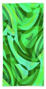 Abstract Waves Painting 0010075 Beach Towel
