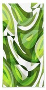 Abstract Waves Painting 0010081 Beach Towel
