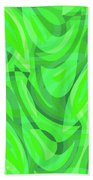 Abstract Waves Painting 0010082 Beach Towel