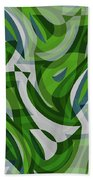 Abstract Waves Painting 0010087 Beach Towel