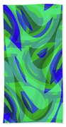 Abstract Waves Painting 0010094 Beach Towel