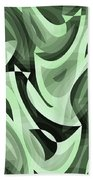 Abstract Waves Painting 0010095 Beach Sheet