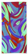 Abstract Waves Painting 0010102 Beach Sheet