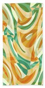 Abstract Waves Painting 0010105 Beach Sheet