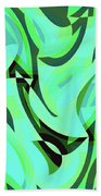 Abstract Waves Painting 0010107 Beach Sheet