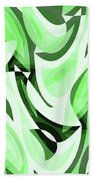 Abstract Waves Painting 0010108 Beach Towel