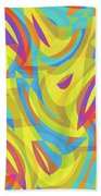 Abstract Waves Painting 0010109 Beach Towel