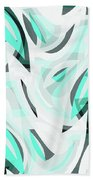 Abstract Waves Painting 0010111 Beach Towel