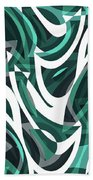 Abstract Waves Painting 0010112 Beach Sheet