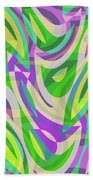 Abstract Waves Painting 0010113 Beach Sheet
