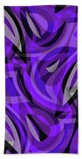 Abstract Waves Painting 0010115 Beach Sheet