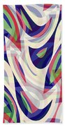 Abstract Waves Painting 0010118 Beach Sheet