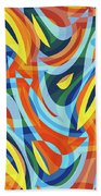 Abstract Waves Painting 007176 Beach Towel