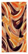 Abstract Waves Painting 007187 Beach Towel