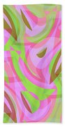 Abstract Waves Painting 007188 Beach Towel