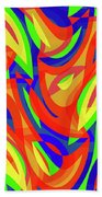 Abstract Waves Painting 007192 Beach Towel