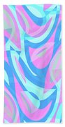 Abstract Waves Painting 007197 Beach Towel