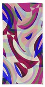 Abstract Waves Painting 007199 Beach Towel