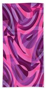 Abstract Waves Painting 007200 Beach Towel