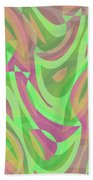 Abstract Waves Painting 007214 Beach Towel