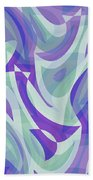 Abstract Waves Painting 007217 Beach Towel