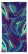 Abstract Waves Painting 007219 Beach Towel