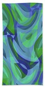 Abstract Waves Painting 007221 Beach Towel