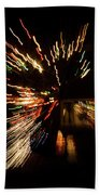 Abstracted Christmas - Luminous Fairy Lights Patterns Beach Towel