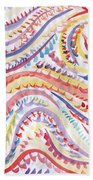 Abstraction In Winter Colors Beach Towel