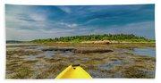 Adventurous Kayak In Maine Beach Towel