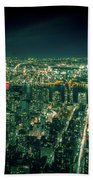 Aerial View Of Manhattan Skyline  Beach Sheet