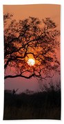 Africa Sunset Beach Towel by John Rodrigues
