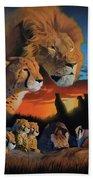 African Cats Beach Towel