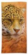 African Leopard Beach Towel