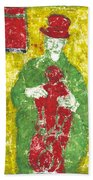 After Billy Childish Painting Otd 23 Beach Towel