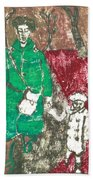 After Billy Childish Painting Otd 45 Beach Towel