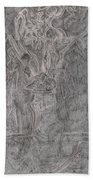 After Billy Childish Pencil Drawing 1 Beach Towel