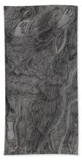 After Billy Childish Pencil Drawing 11 Beach Towel