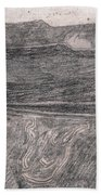 After Billy Childish Pencil Drawing 18 Beach Towel