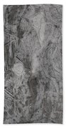 After Billy Childish Pencil Drawing 3 Beach Towel