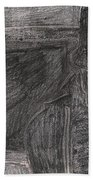 After Billy Childish Pencil Drawing 32 Beach Towel